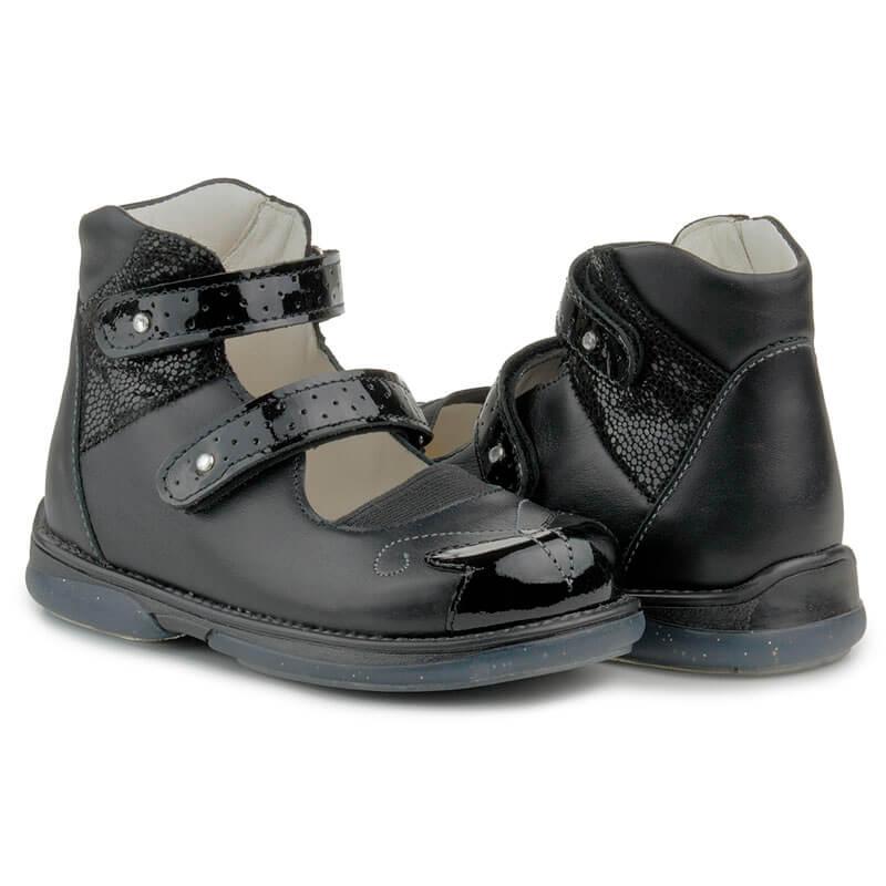 6cbabe3514f2a7 Купить Memo Princessa 3LY Черные Ортопедические туфли для девочек ...