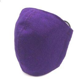 Захисна маска для обличчя багаторазова тришарова Mark I Фіолетова